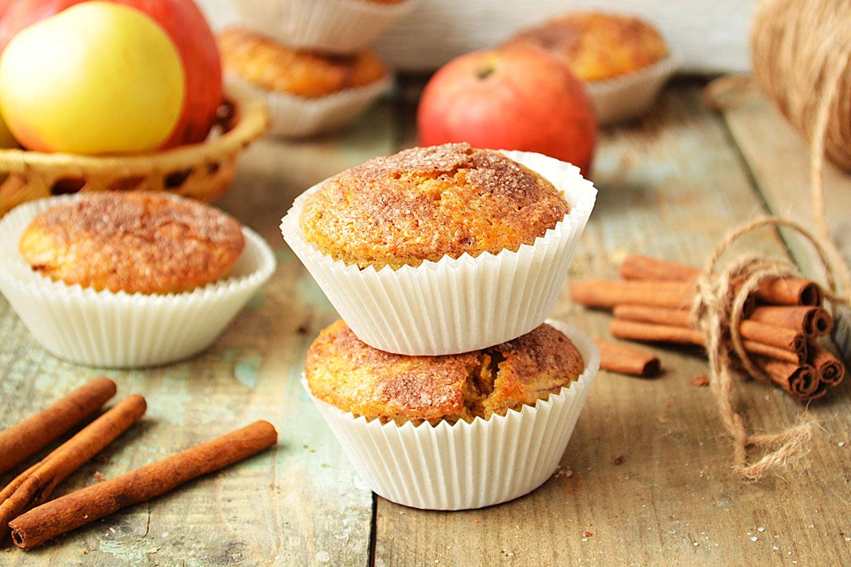 Muffin alle Mele Essiccate