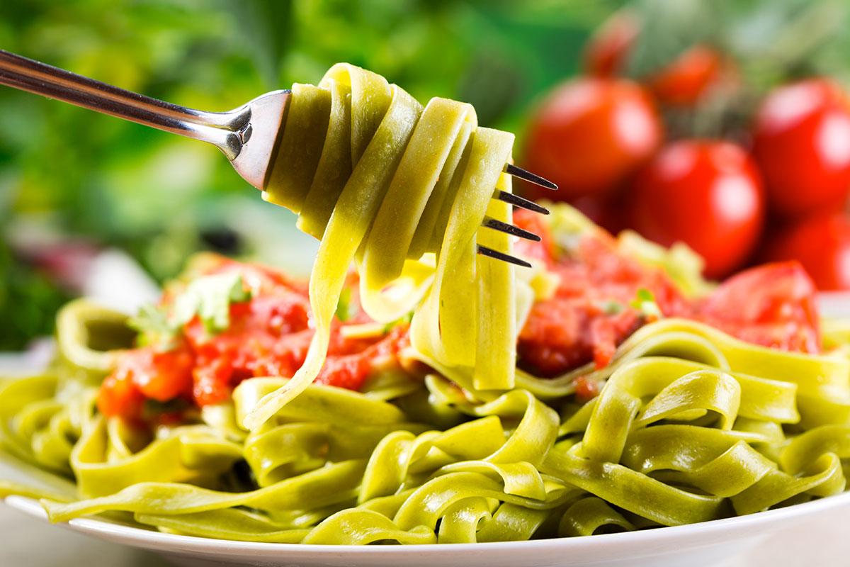 Pasta Verde al Sugo di Castagne